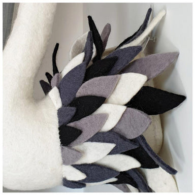 Tik Tak Handmade Wool Wall Swan Head - Monochrome | Koop.co.nz