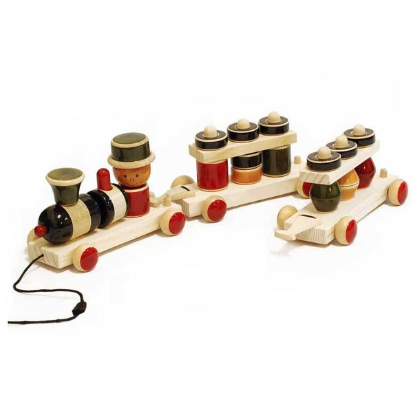 Maya Organic Fair Trade Wooden Stacking Train | Koop.co.nz