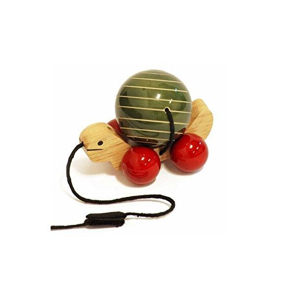 Maya Organic Fair Trade Wooden Tuttu Turtle - Green | Koop.co.nz