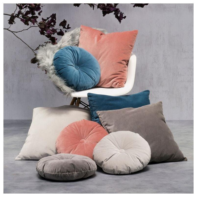 Jason Charcoal Velvet Round Cushion (35cm) | Koop.co.nz