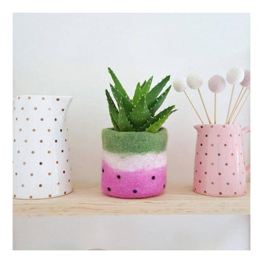 Tik Tak Handmade NZ Wool Watermelon Pot | Koop.co.nz