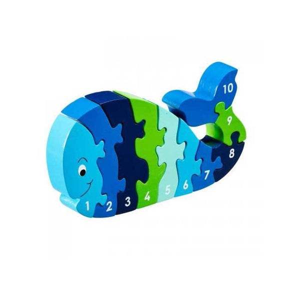 Lanka Kade Fair Trade Whale Jigsaw 1-10 | Koop.co.nz