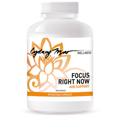 Focus Right Now, ADD Support ~ 60 veggie caps ~ made in Canada, oh- my-goodness for laser focus perfect for everyday, stressful tests & banish ADD naturally.