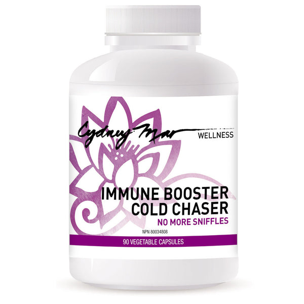 Immune Booster Cold Chaser Vitamins 90 gluten free veggie caps proudly made in Canada. Keep this handy for those times the sniffles threaten your perfect health. Catch it in time and stay healthy happy.