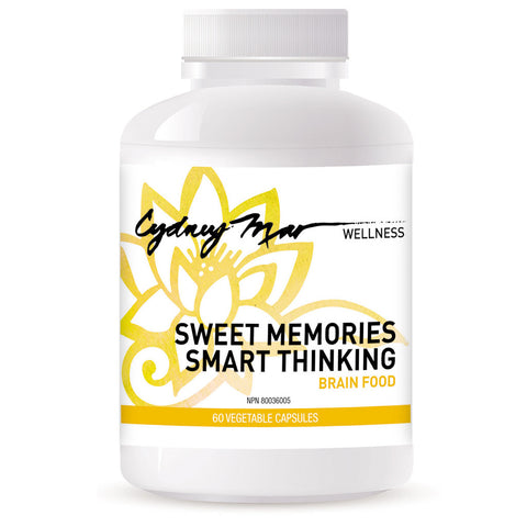 Sweet Memories, Smart Thinking Vitamin 60 veggie caps made in Canada ~ Such an excellent formulation for keeping your sweet memories and smarts when you need them.