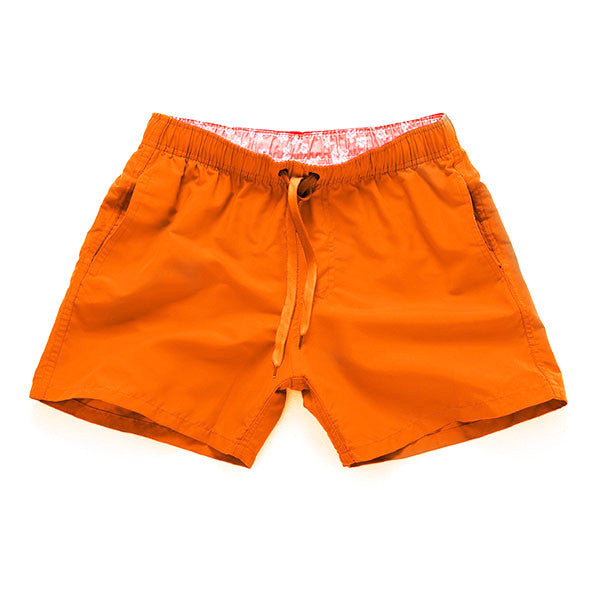 ORANGE - Frank Anthony Swimwear Mens Shorts Hydrophobic Nanotechnology Fast Drying Swimwear