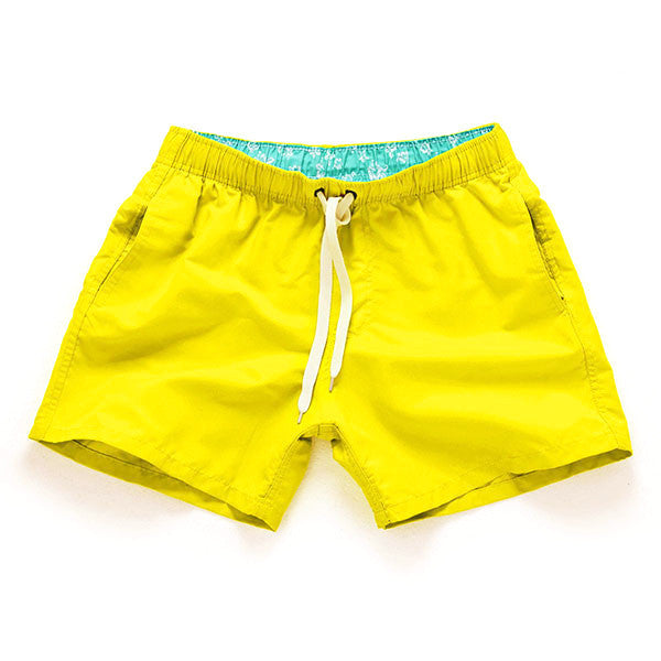 YELLOW - Frank Anthony Swimwear Mens Shorts Hydrophobic Nanotechnology Fast Drying Swimwear