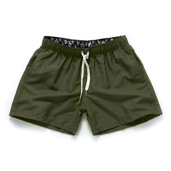 OLIVE GREEN - Frank Anthony Swimwear Mens Shorts Hydrophobic Nanotechnology Fast Drying Swimwear
