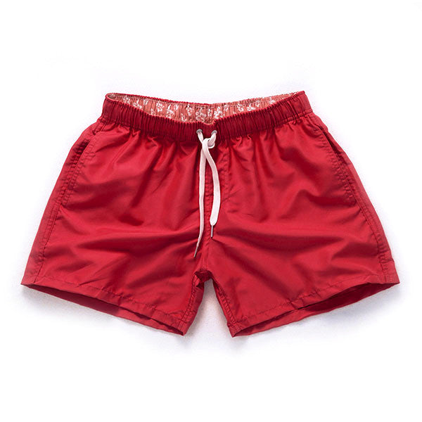 RED - Frank Anthony Swimwear The Worlds Fastest Drying Shorts Hydrophobic Nanotechnology
