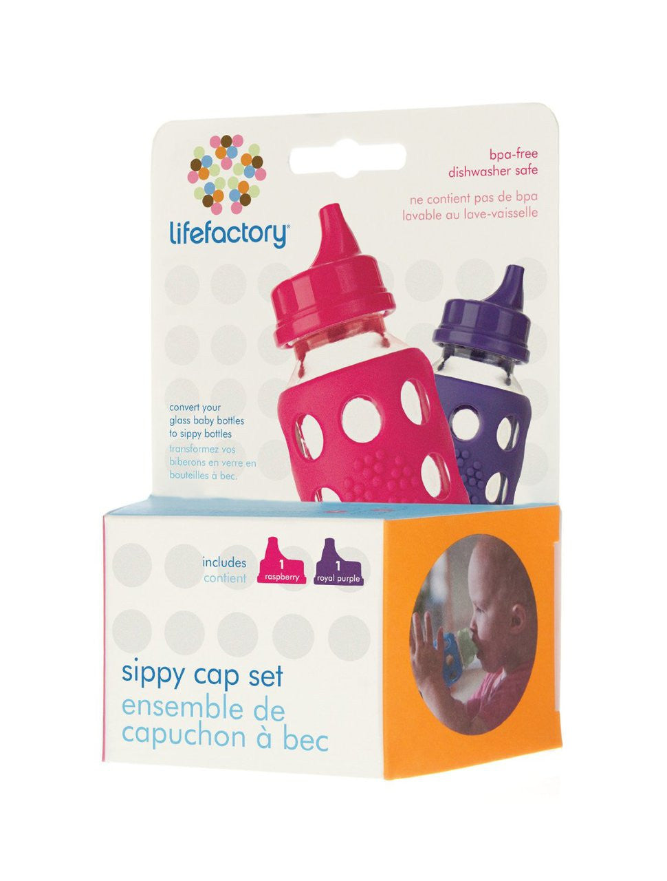 Lifefactory Sippy Cap Set - 2 Pack