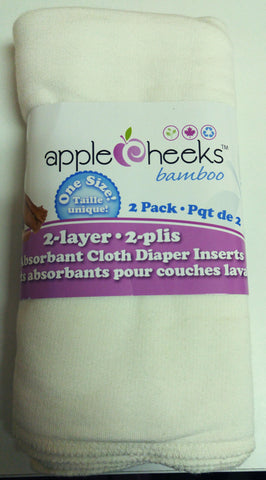 Apple Cheeks Bamboo Inserts 2-Ply