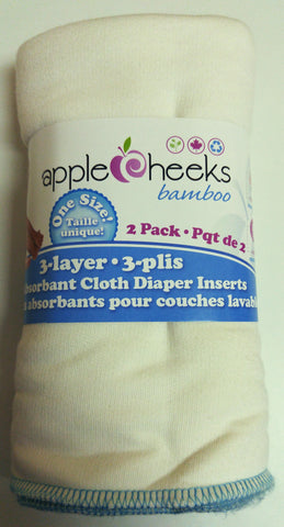 Apple Cheeks Bamboo Inserts 3-Ply