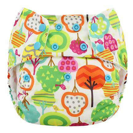 Blueberry One Size Simplex All In One Diaper w/ Organic Cotton