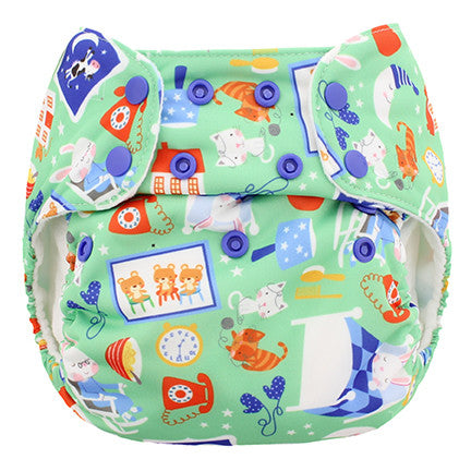 Blueberry Organic One Size Simplex AIO Diaper W/Stay Dry Soaker
