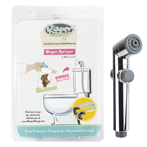 Diaper Dawgs AIO Toilet Sprayer With Shield