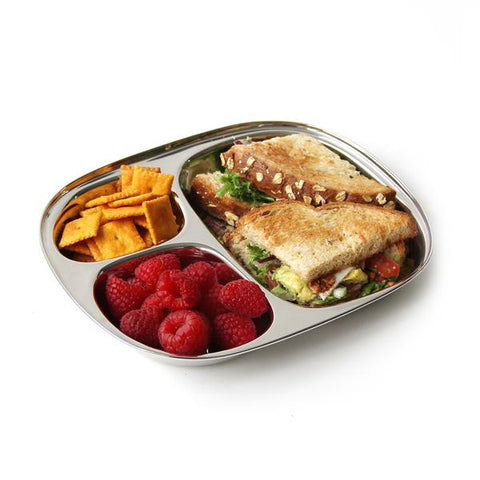 ECO Stainless Steel Lunchbox 3 Section Trays