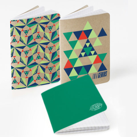 bumGenius Genius Series Pocket Notebook 3pk Sierpinski