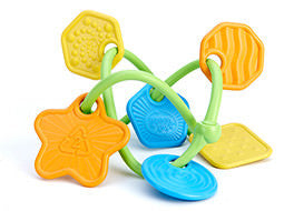 Green Toys Twist Teether With 6 Colorful Uniquely Textured Charms