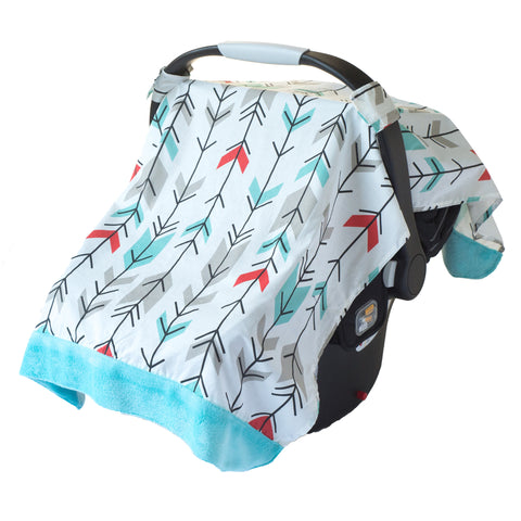 Itzy Ritzy Cozy Happens Muslin Infant Car Seat Canopy