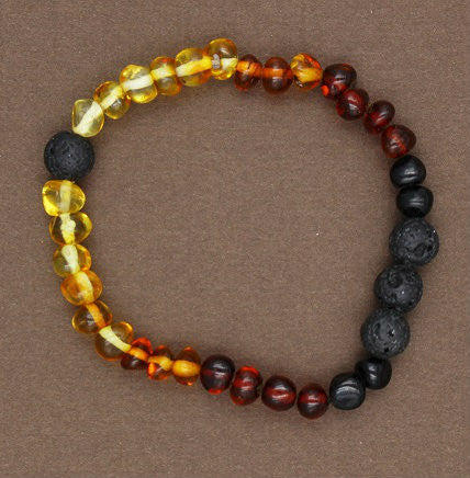 Baltic Baby Amber Necklace Olive Shape Beads