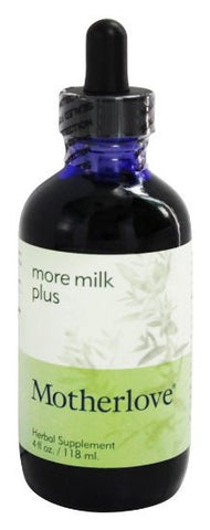 Motherlove More Milk Special Blend Herbal Breastfeeding Supplement With Goats Rue 4oz Liquid