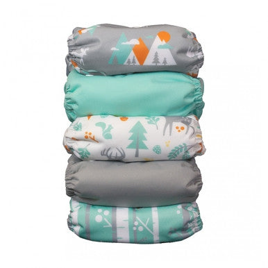 Thirsties Natural One Size All In One Woodland Collection 5 Pack