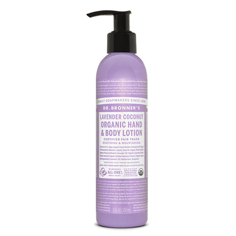 Dr. Bronner's & Sun Dog's Magic Body Care Organic Lotions Lavender Coconut 8 fl. oz.