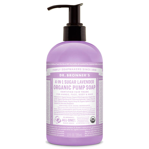 Dr. Bronner's Certified Organic Body Care Soaps 12 fl. oz