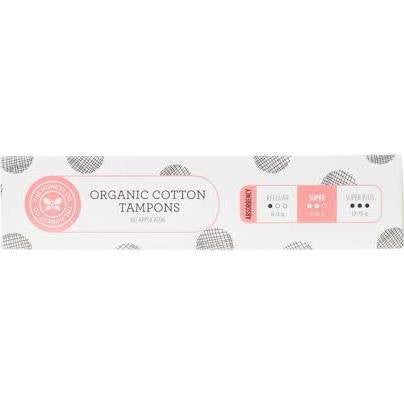 The Honest Company Organic Cotton Tampons, Super