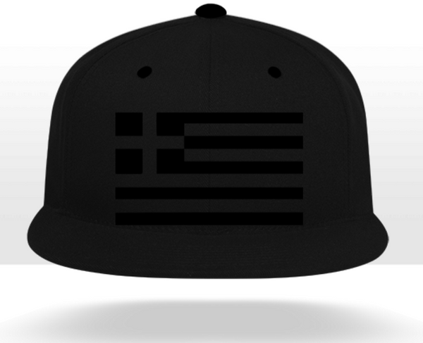 Monochrome Greek Flag Snapback (5 Panel)