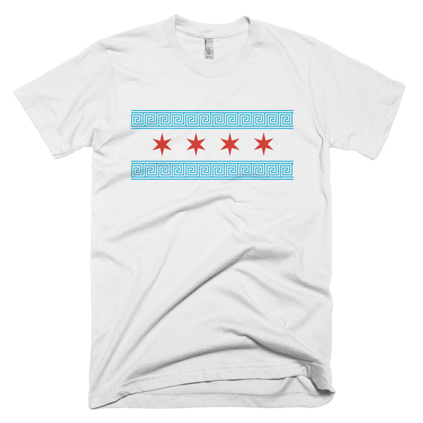 Greek Chicago Flag