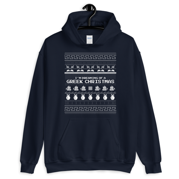 I'm Dreaming of a Greek Christmas (Ugly Hoodie)