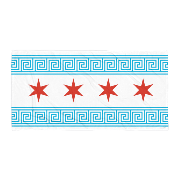 Greek Chicago Flag (Towel)