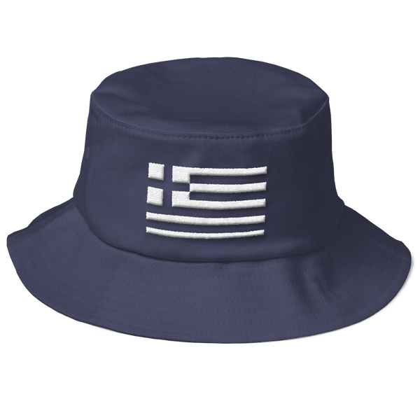 Monochrome Greek Flag (Bucket Hat)