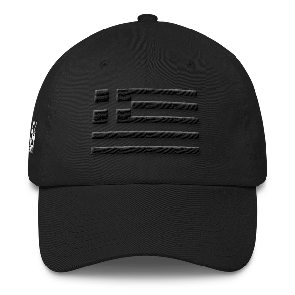 Monochrome Greek Flag (Cap)