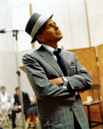 Frank Sinatra in his trademark Fedora 88c9521fb1d