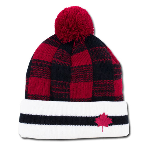 Buffalo Check Leaf Toque