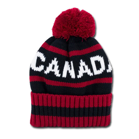 Striped Canada Toque
