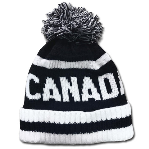 Black & White Canada Toque