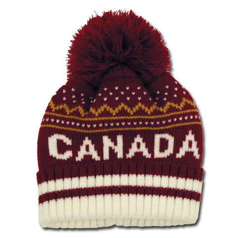 Patterned Canadian Toque
