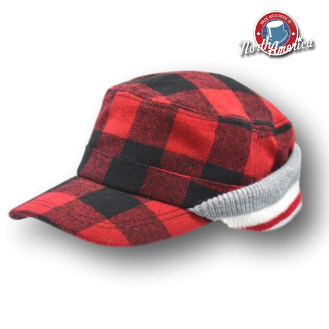Buffalo Check & Sock Knit Cap