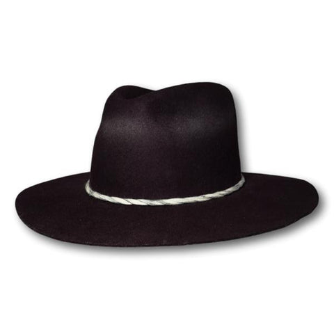Distressed Spray Wide Brim Fedora
