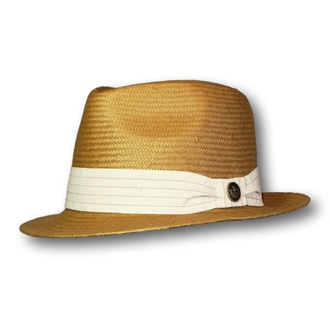Stripe Stitch Fedora
