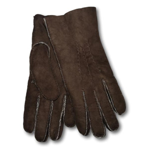 Raw Edge Sheepskin Gloves