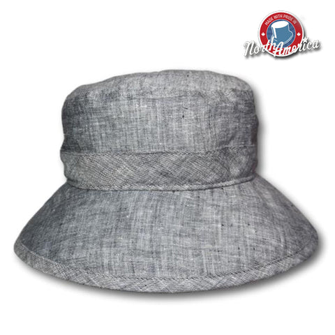 Chambray Brimmed Bucket