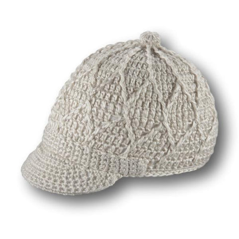 Cable Knit Jockey Cap