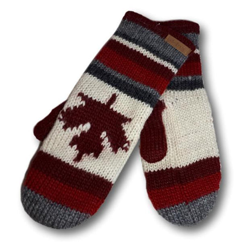 Striped Canada Mitts