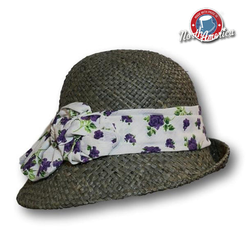 Printed Scarf Band Cloche