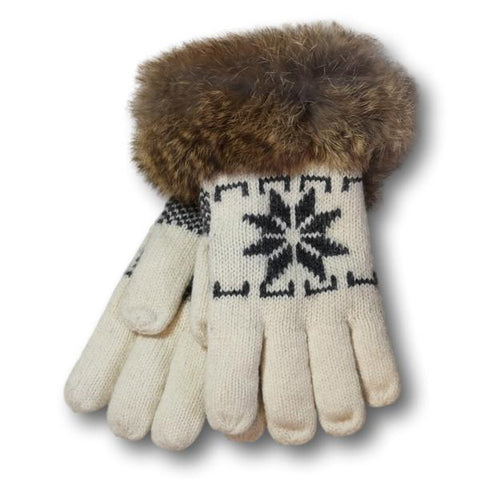 Lambswool Snowflake Gloves