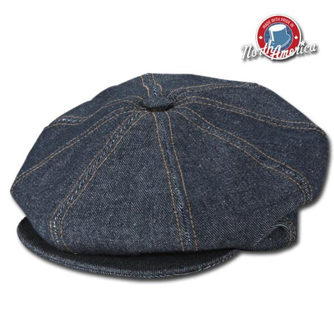 Denim Snap Newsboy Cap